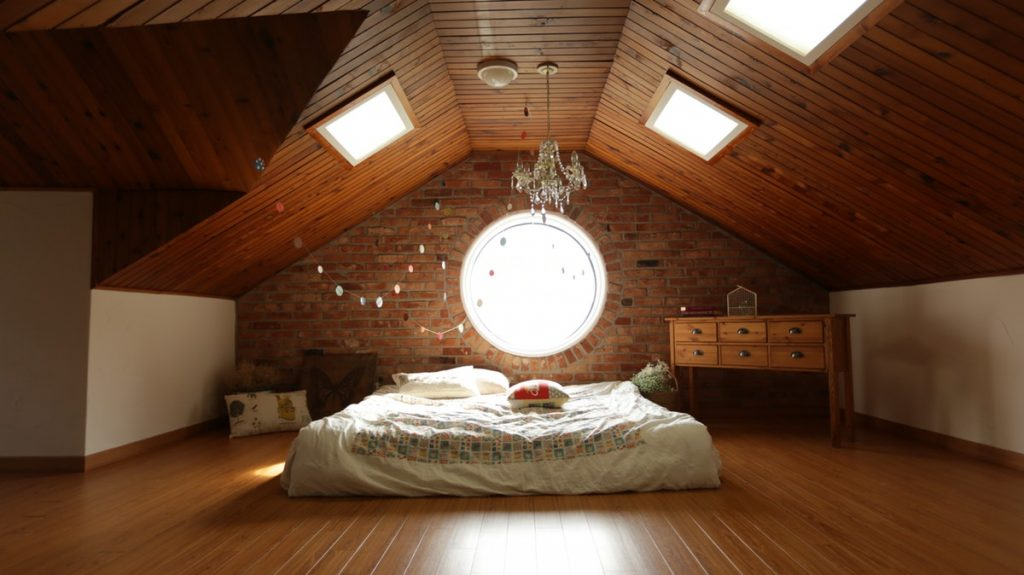 Tiny bedroom in the attic