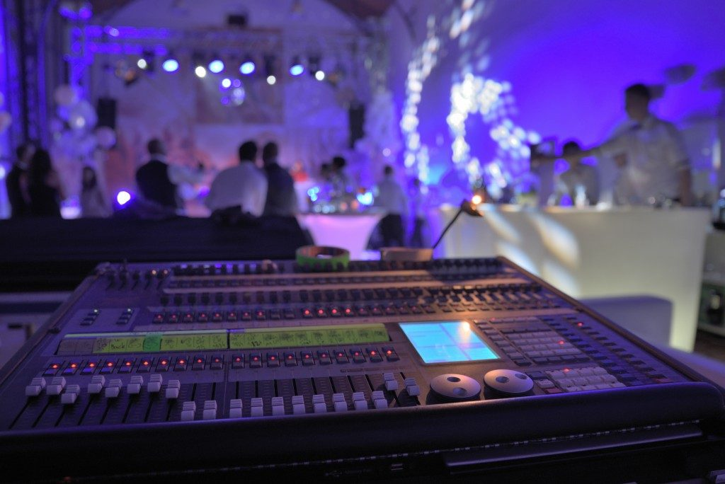 audio mixer at a private party