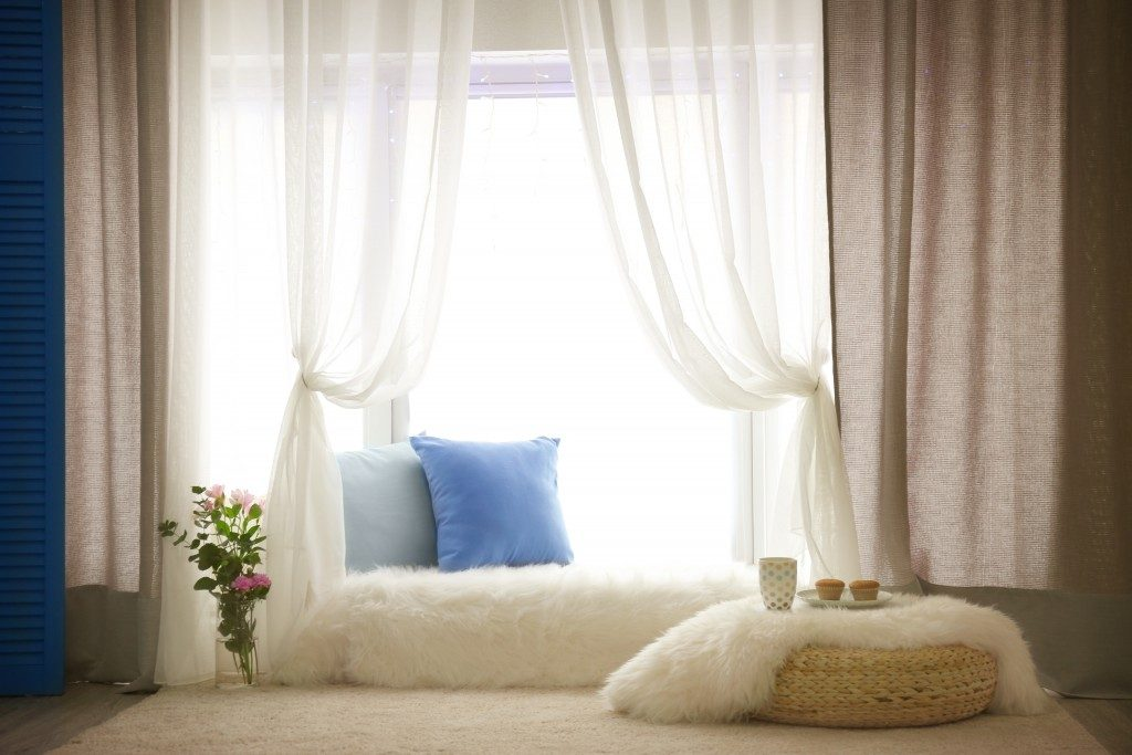 curtains by the window