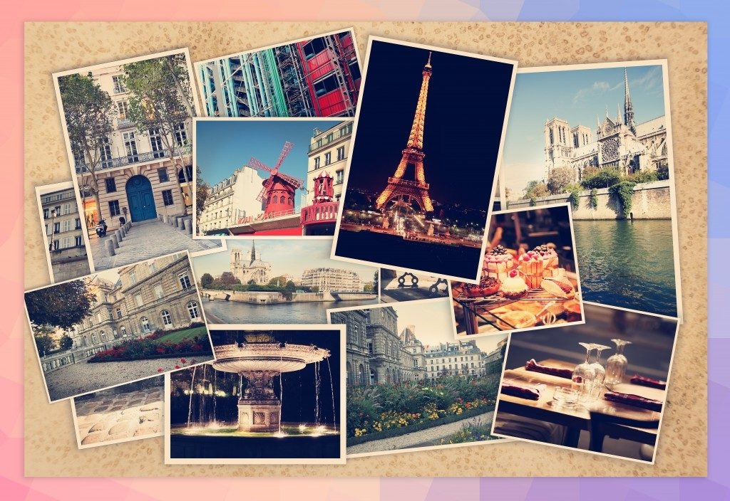 photo collage of paris