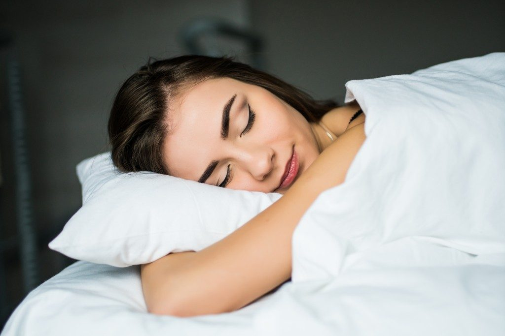 woman having a restful sleep
