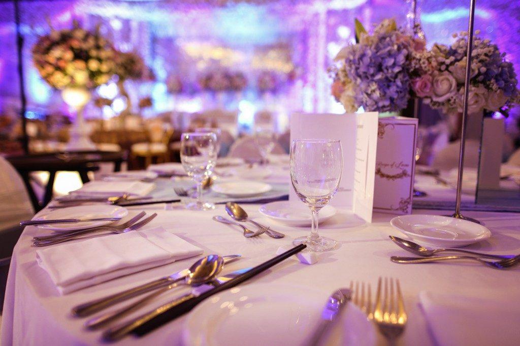 event venue, table set up