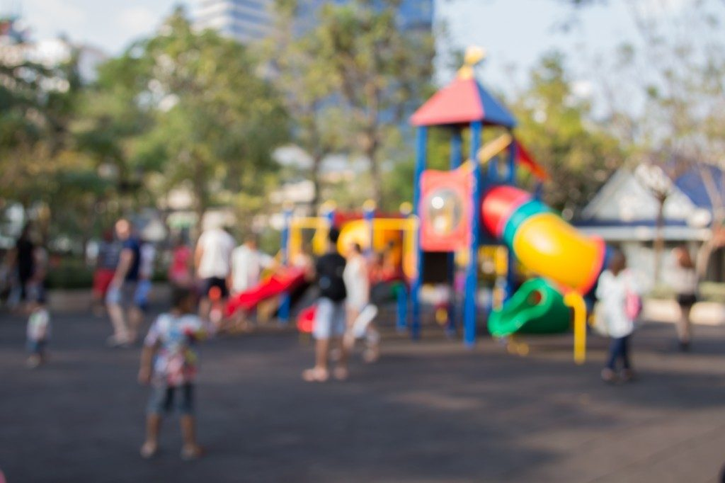 blurred photo of a kids playground