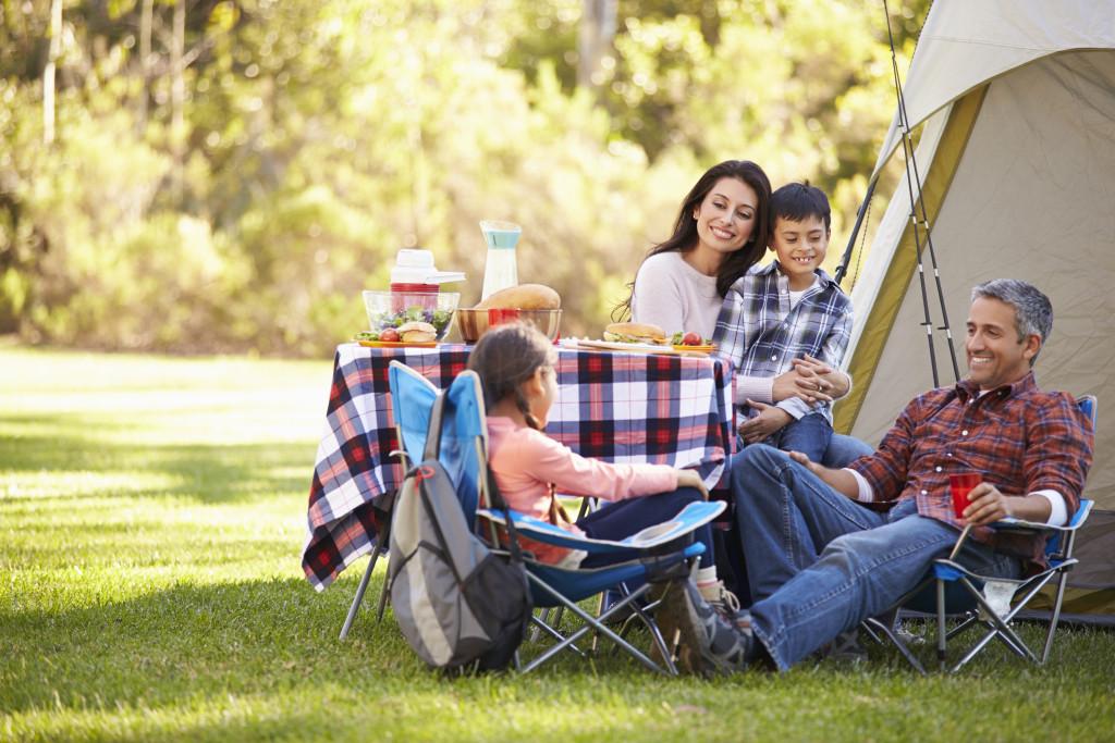 Family Enjoying Camping